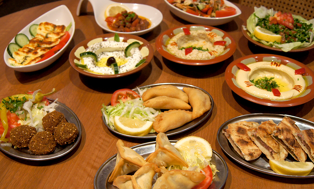 Mezze served at Mazar